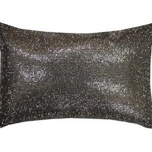 Square Diamond Silver Cushion