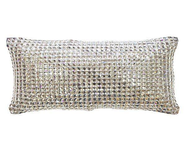 Square diamond silver cushion